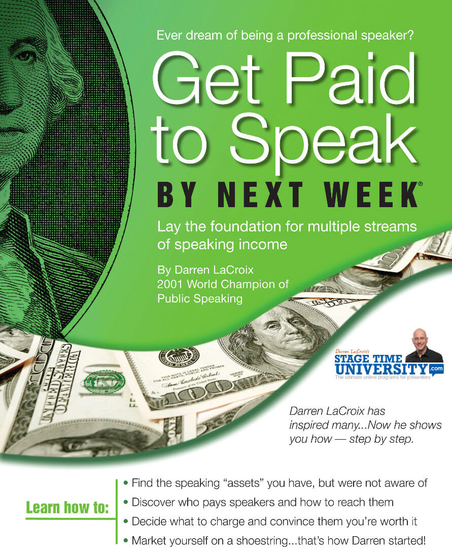 Get Paid to Speak by Next Week