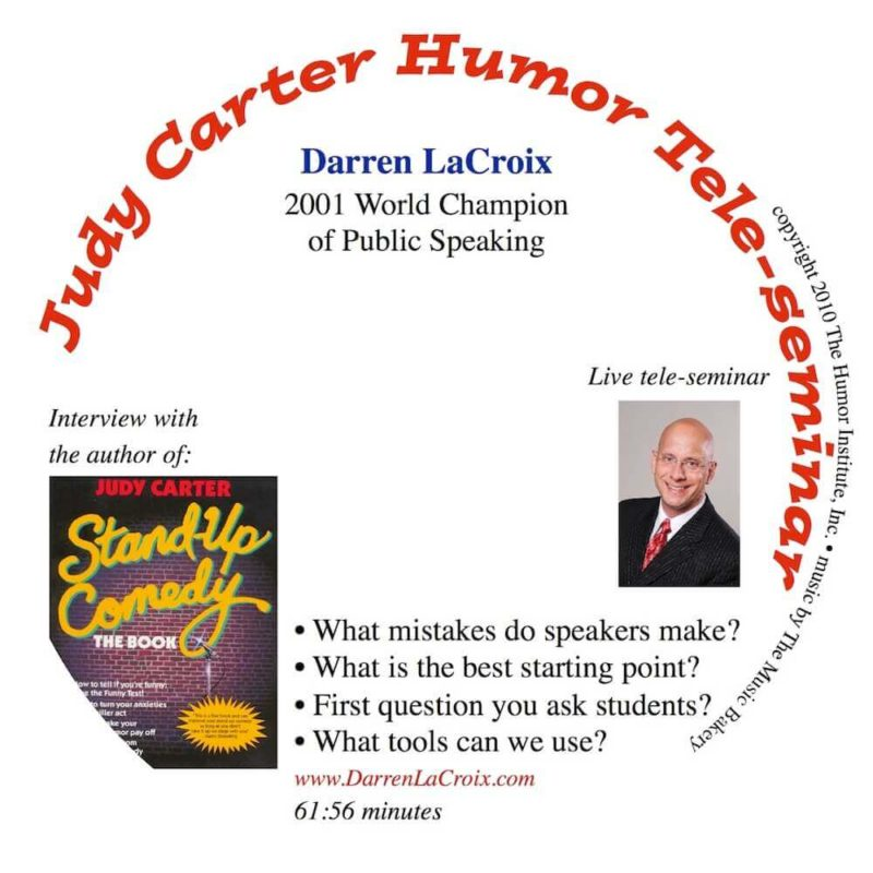 Humor Teleseminar with Judy Carter